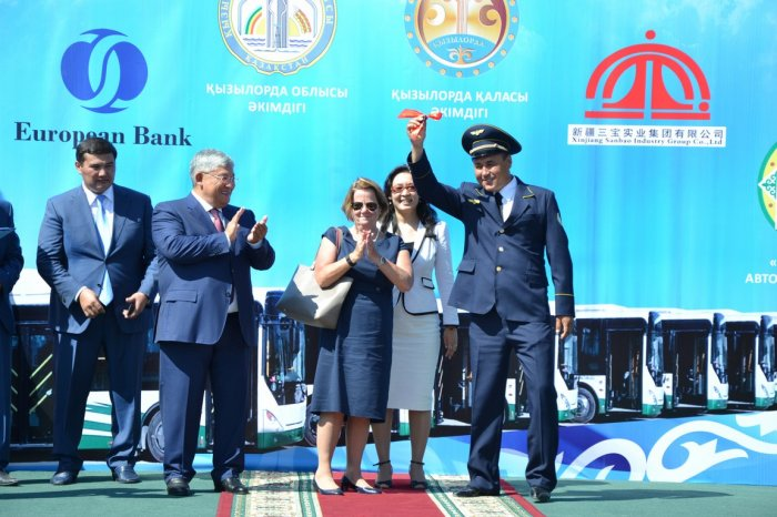40 new buses have started in Kyzylorda city