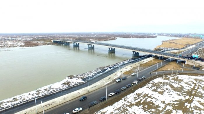 FOR INDEPENDENCE DAY THE NEW BRIDGE OVER SYRDARYA RIVER IS OPEN IN KYZYLORDA CITY